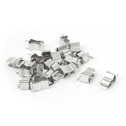 uxcell Clips Holder Clamp for 6mm x 30mm Fuse Silver Tone 20 Pcs ()