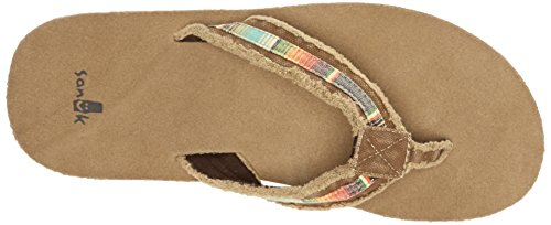 Multi Flip Tan Flop Fraid Men's Sanuk So x7qwzCPPY