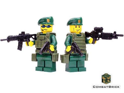 CombatBrick Green Berets 2 Men Patrol Pack - Custom Army Builder Minifigures lot