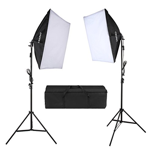 CRAPHY 5500k Photography Continuous Softbox Lig...