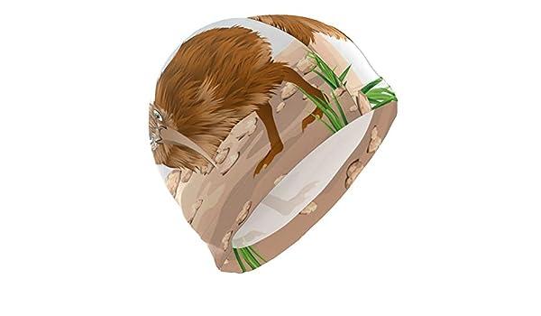 ALINLO Gorro de natación con diseño de Kiwi y Huevo de pájaro ...
