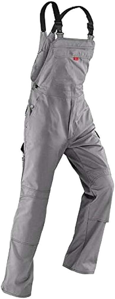 Latzhose //Diensthose 52 K/übler Inno Plus Uni-Dress mittelgrau Arbeitshose Gr