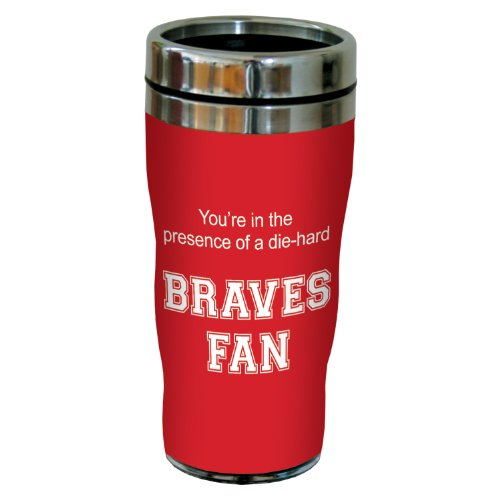 Tree-Free Greetings sg24646 Braves College Basketball Sip 'N Go Stainless Steel Lined Travel Tumbler, 16 Ounce Bradley Braves Ncaa Basketball