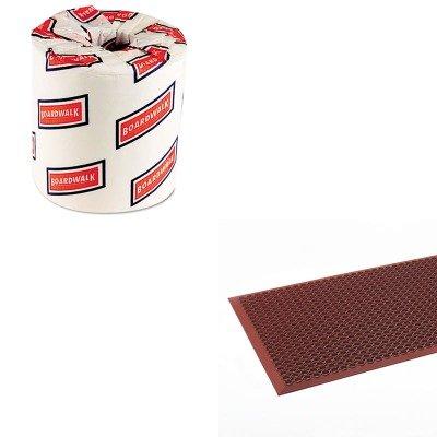 KITBWK6180CWNWSCT35TC - Value Kit - Crown WSCT35 TCO Safewalk-Light Anti-Fatigue Drainage Mat, 3' x 5' (CWNWSCT35TC) and White 2-Ply Toilet Tissue, 4.5quot; x 3quot; Sheet Size (BWK6180)