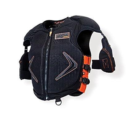 HMK Men's Protective Vest (Black/Orange, Small) HM5VESTS