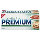 Premium Unsalted Tops Saltine Crackers, 16 oz