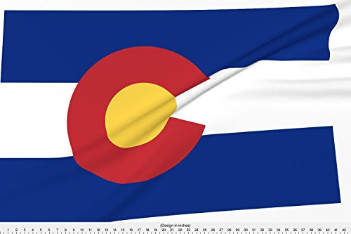 Spoonflower Cheater Quilt Fabric Colorado State Flag by Bgir