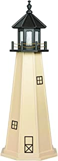 product image for DutchCrafters Decorative Lighthouse - Wood, Split Rock Style (5', Black/Ivory)