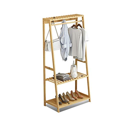 Zhouminli Household Products Coat Racks Heavy Duty Adjustable Clothing Rail Garment Clothes Rack Collapsible with 6 Hooks, for Shoes, Hats and Scarves, in The Hallway, Living Room, Guest Room