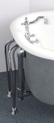 Clawfoot Tub Filler with a Short Gooseneck Spout with Drain &Supplies ()