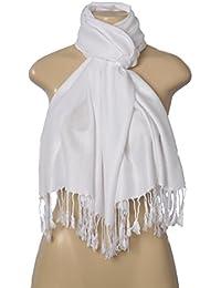 Elegant Pashmina Silk Blend Soft Wrap Scarf Shawl - Solid Colors
