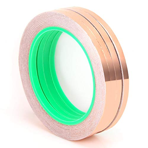 (AMX3d Lilypad Low Voltage Circuit Wiring Solutions - 3mm Conductive Copper Foil Tape - Double Sided Conductor Tape for Lilypad Arduino, Soldering, Electrical Repairs, Paper Circuits, 4 x 25 Meters)