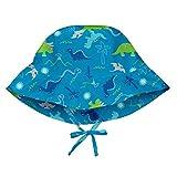 i play. Boys' Toddler Bucket Sun Protection Hat Aqua Dinosaurs 2T-4T, 2T/4T