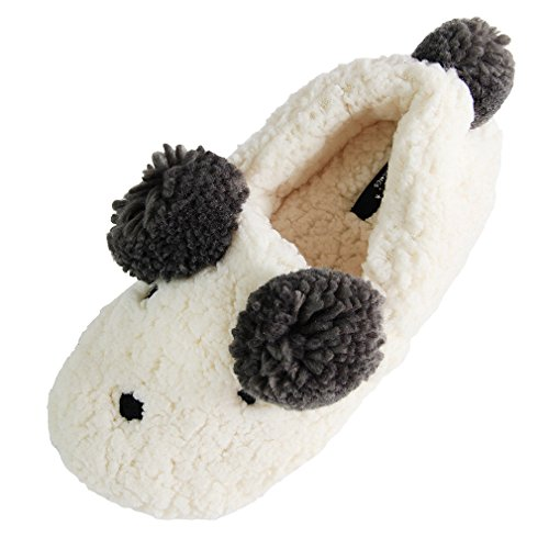 Kvinners Dyr Tøfler | Søte Fuzzy Hjem Plysj Tøfler | Koselig Moro Plysj  Innendørs Sko |