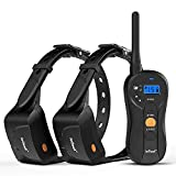 ieGeek Dog Training Collar for 2 Dogs - Rechargeable and Waterproof Shock Collar - 1960ft Blind Operation Remote Controlled Electric Collar with Tone/Vibration/Shock for Small/Medium/Large Dogs