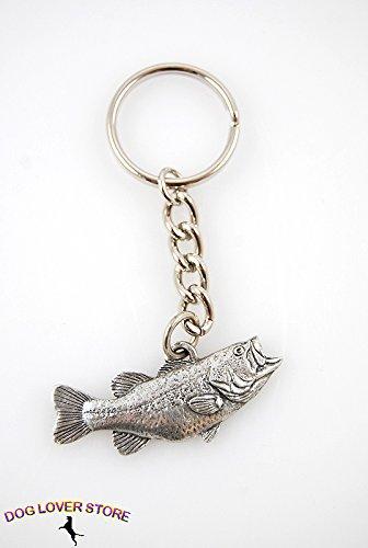 PP Largemouth Bass Fish Pewter Keychain -