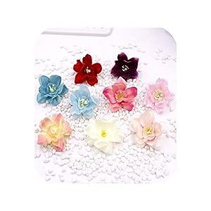 Handmade Mini Artificial Silk Peony Flowers Heads Scrapbooking Flower 86