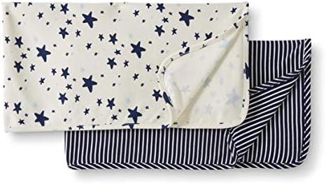 Juego de 2 mantas de algod/ón org/ánico para beb/é Moon and Back de Hanna Andersson P/úrpura One Size