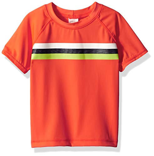 Gymboree Big Boys' Short Sleeve Casual Knit Top, Pumpkin Pie, 2T