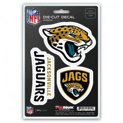 NFL Jacksonville Jaguars Team Decal, 3-Pack