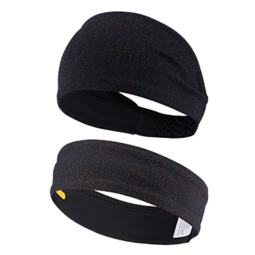 Leories Mens Headband 1-8 Pack Workout Sweatband Sport Headband Non Slip Moisture Wicking for Women Men from Leories