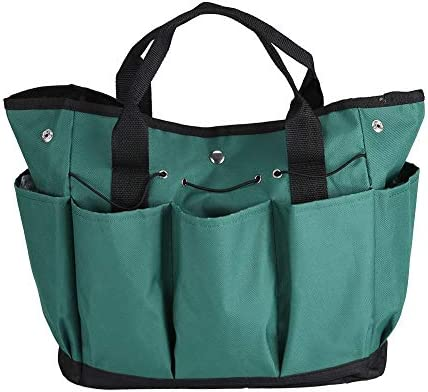 Qiilu 多機能ガーデンバッグ ガーデンツールバッグ 折りたたみ式 大容量 園芸工具 ガーデニング ツール収納袋