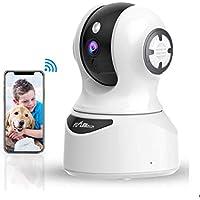 Cámara de Vigilancia WiFi Interior, Cámara IP con Alexa Detección de Movimiento de Visión Nocturna, Audio de 2 Vías, HD 1080P Cámara de Seguridad Interior Cámara para Mascotas/Bebés para iOS/Android