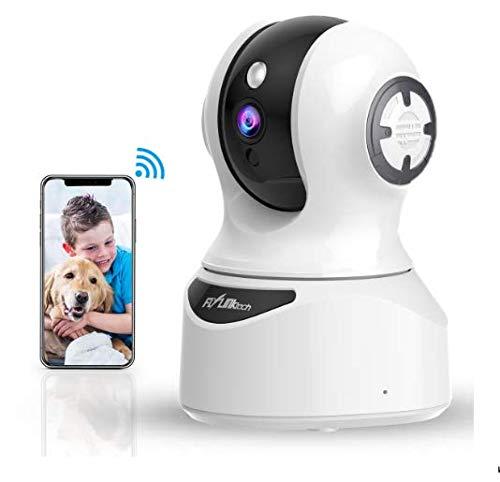 Cámara de Vigilancia WiFi Interior, Cámara IP con Alexa Detección de Movimiento de Visión Nocturna, Audio de 2 Vías, HD 1080P Cámara de Seguridad ...