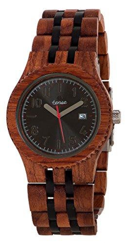 Tense Discovery Yukon Jumbo Round Two-Tone Wood Watch J5200RD DF