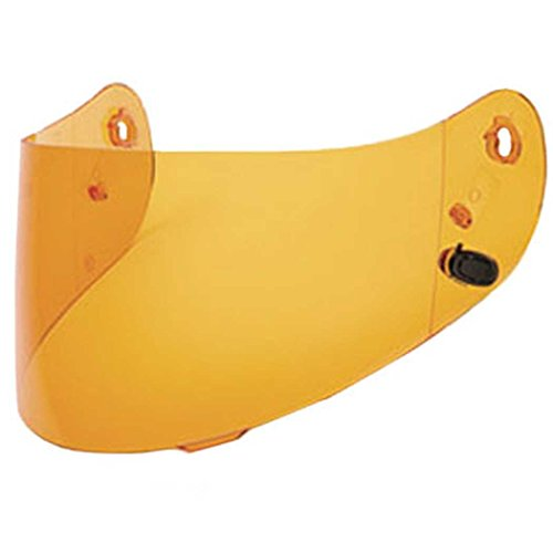 HJC Helmets HJ-09 Unisex-Adult Full-Face-Helmet-Style Replacement Helmet Face Shield (Amber,One Size)
