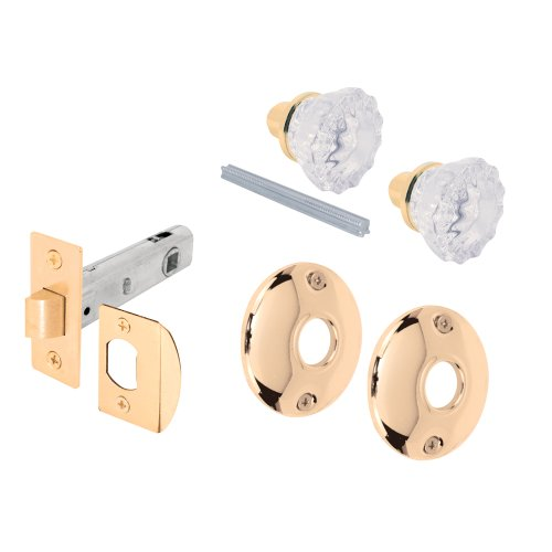 Prime-line E2317 Passage Door Latch Glass Knob Set with Latch Bolt - Clear Glass Door Knob