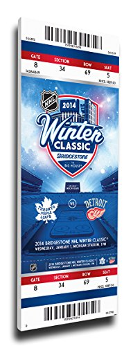 Winter Classic Mega Ticket (That's My Ticket 2014 NHL Winter Classic Mega Ticket Wall Decor, Maple Leafs vs Red Wings)