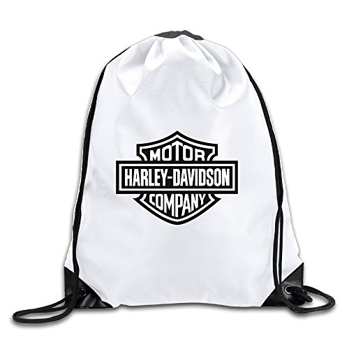 OYOLOY Harley Davidson Logo Drawstring Backpack Sack Bag / Travel Bags