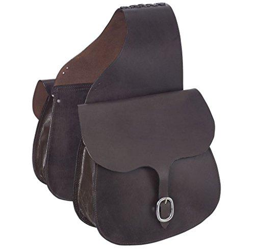 (Tough 1 Leather Saddle Bag, Dark Oil Plain)