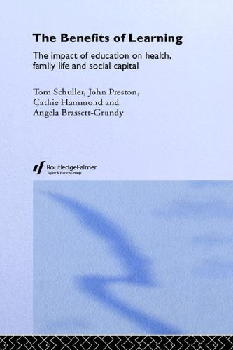 The Benefits of Learning: The Impact of Education on Health, Family Life and Social Capital by Routledge Falmer