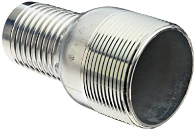 Dixon STC Series Plated Steel Hose Fitting, Jump Size King Combination Nipple, NPT Male x Hose ID Barbed