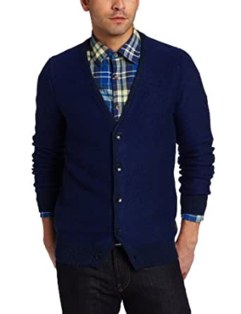 Scotch & Soda Men's Knitted Cardigan, Blue, XX-Large