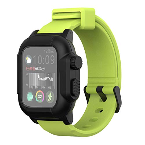 (CapsA Waterproof Silicone Strap Watch with Watch case Compatible for Apple Watch4)