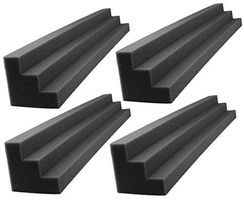 XL Column Acoustic Wedge Studio Foam Corner Block Finish Corner Wall in Studios or Home Theater (4 Pack)