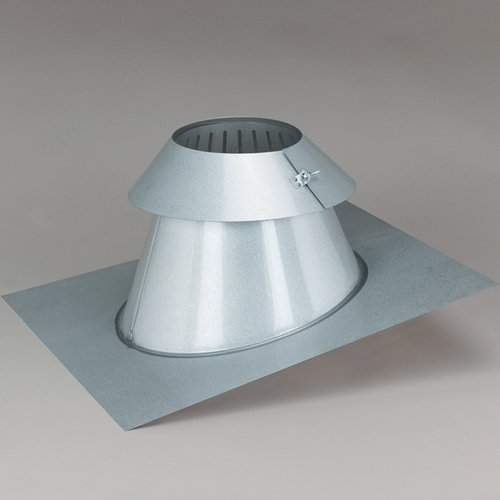 SuperPro JSC6AAF 6'' Flat to 6/12 Pitch Adjustable Flashing Assembly with Storm C, Galvalume
