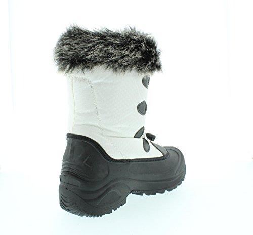 Itasca Womens Vixen 200g Thinsulate Faux Fur Collar Snow Boot Bianco