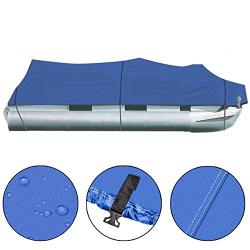 25-28Ft Heavy Duty Boat Cover 600D Oxford Fabric PVC Coating Trailerable Waterproof Trailer Fishing Ski Protector with Carrying Bag 118