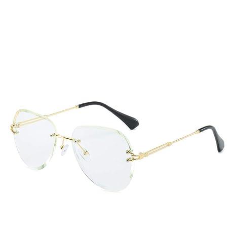 Yangjing-hl Gafas de Sol con Montura gradiente sin Marco ...