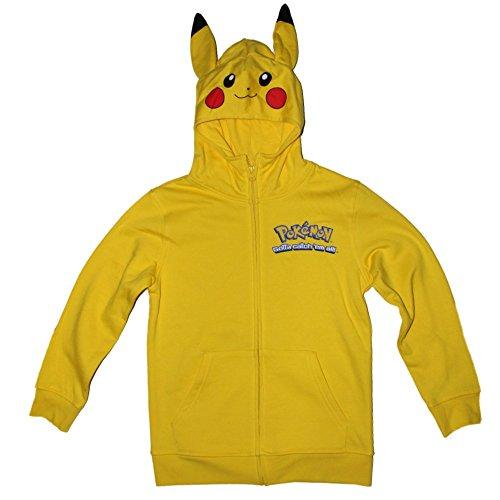 Pokemon Pikachu Boys Zipper Front Hoodie 4-16 (L (10/12))