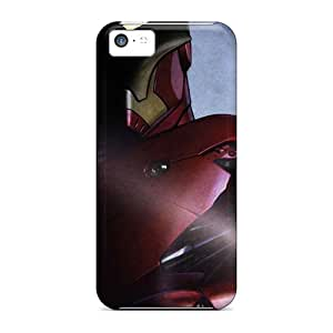 AbbyRoseBabiak Shockproof Scratcheproof Iron Man Comic Hero Hard Cases Covers For Iphone 5c