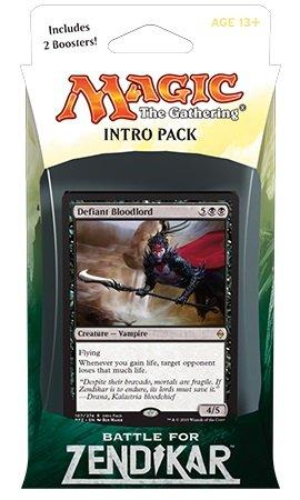 Magic the Gathering: MTG Battle for Zendikar: Intro Pack / Theme Deck: Defiant Bloodlord (includes 2 Booster Packs & Alternate Art Premium Rare Promo) Black