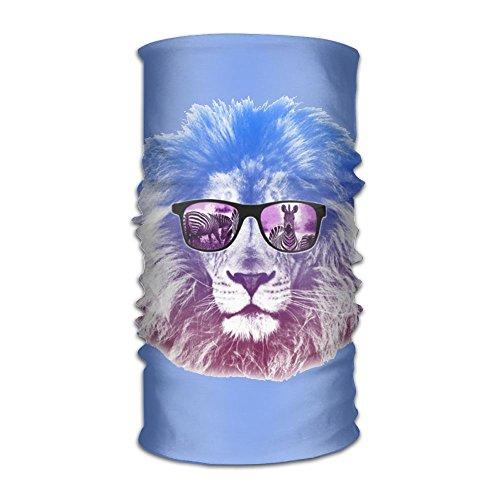 Summer Cool Lion With Sunglasses Outdoor Bandana Magic Headband Face Mask Elastic Seamless Neck Balaclava And Sport Helmet Liner,Soft Elastic - Sunglasses Blue Jays