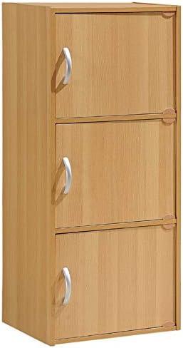Pemberly Row 3 Shelf 3 Door Bookcase