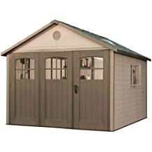Lifetime 11 x 18.5 ft. Outdoor Storage Shed with Tri Fold Doors
