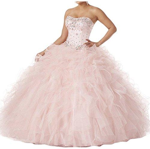 Donne Dearta Quinceanera Arrossire Delle Maniche Pavimento lunghezza Ball Sweetheart Gown gT8gpq0
